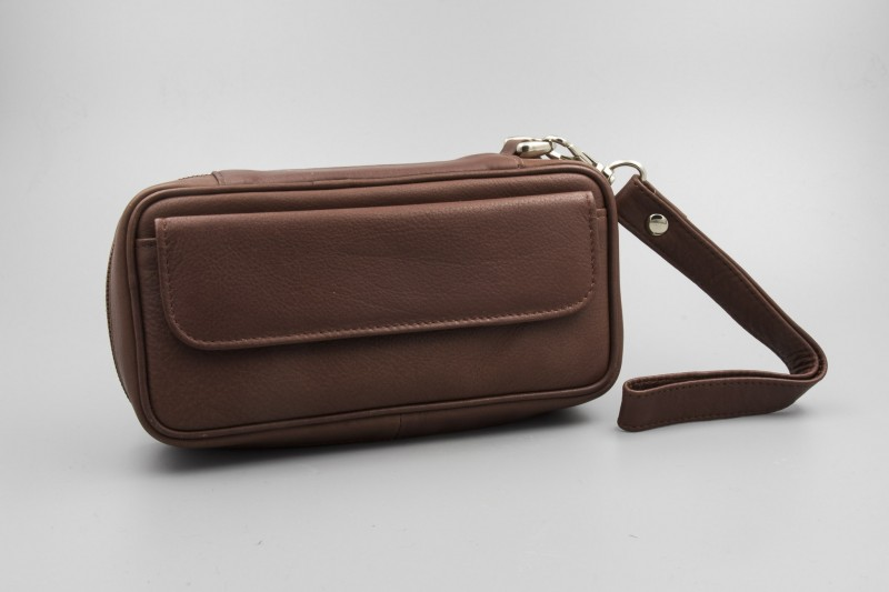 Pipe Bag Trousse Cognac Nappa