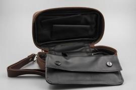 Pipe Bag Trousse Cognac Nappa